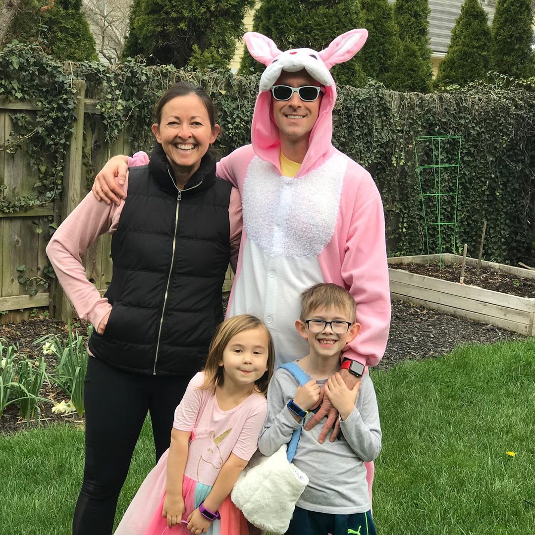 A Schmidt family tradition… 🐰 🥚